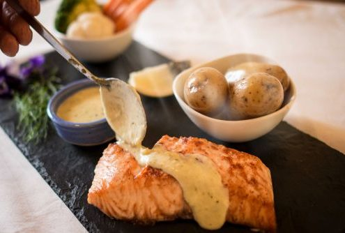 Stonecutters Burren Salmon with Lemon Butter