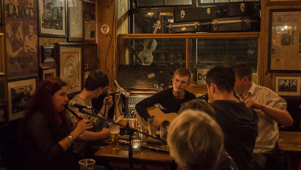 Irish Music session in Doolin, Co. Clare