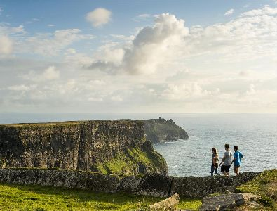Walking at the Cliffs of Moher, Co. Clare, Ireland
