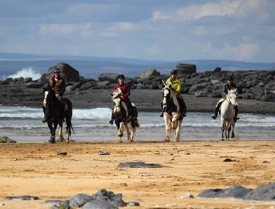 Horse riding, Burren, Doolin, Co. Clare, Wild Atlantic Way