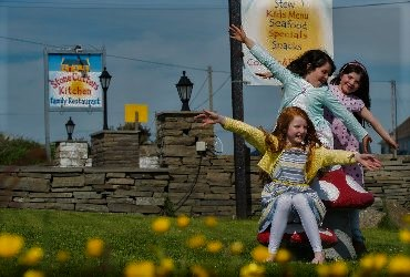 Children playing at StoneCutters Kitchen, Doolin, Co. Clare, Wild Atlantic Way