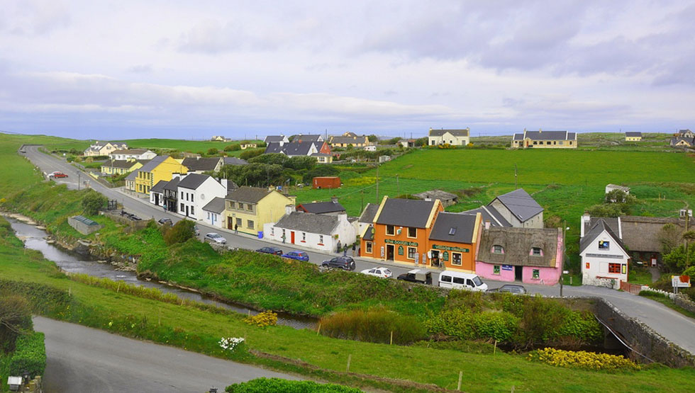 View from Sea View House in Doolin