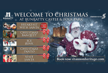 welcome to christmas at bunratty castle and folk park